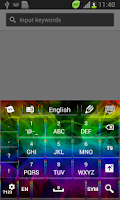 Screenshot of Abstract Colourful Keyboard