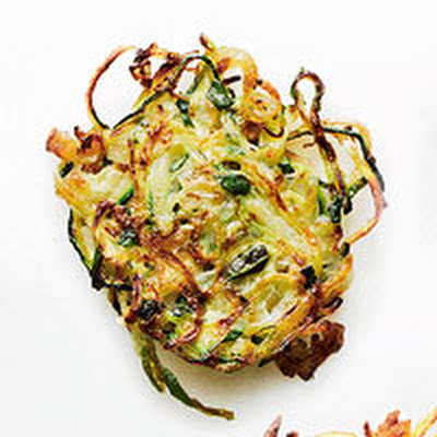 Potato-Zucchini Latkes with Basil