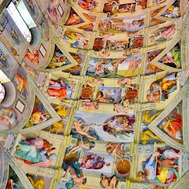 Ceiling of sistine chapel by Vincent Santos - Illustration Buildings