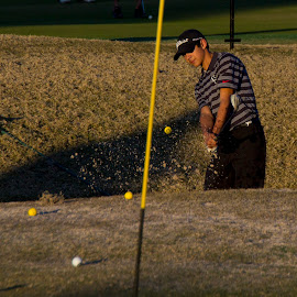 Chip shot by Kevin Dunn - Sports & Fitness Golf ( sand, bunker, wedge, golf )