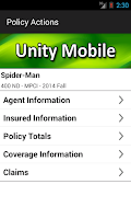 Screenshot of Unity Mobile