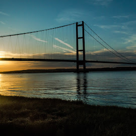 Sunset at the Humber by Nicole Williams - Novices Only Landscapes ( bridge sunset humber )