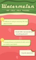 Screenshot of GO SMS PRO WATERMELON THEME
