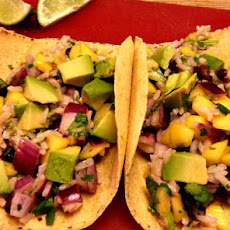 Mango and Black Bean Tacos