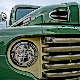 Elegant Old Truck by Barbara Brock - Transportation Other ( antique truck, truck grill, ford truck, old truck )