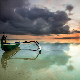 Under the clouds parade by Ade Irgha - Transportation Boats ( clouds, explore bali, sanur, seascape, boat )