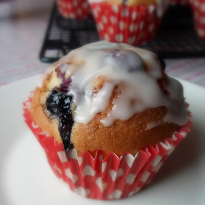 Glazed Blueberry Muffins