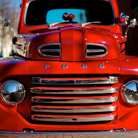 Little Red Truck by Roy Walter - Transportation Automobiles ( car, red, truck, transportation, ford )