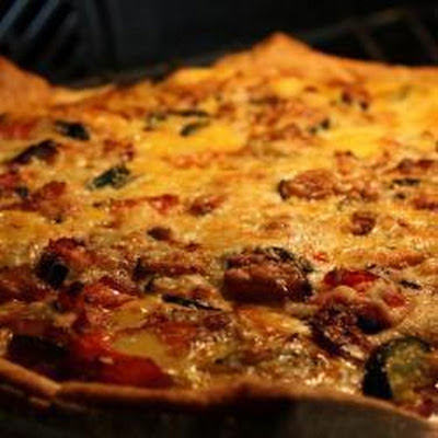 Ham And Courgette Quiche