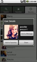Screenshot of OinkText friend finder for Kik