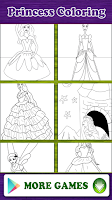 Screenshot of Princess Coloring Book Game