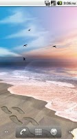 Screenshot of Footprints in the Sand LWP