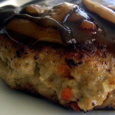 Teriyaki Chicken Burgers With a Teriyaki Mushroom Sauce