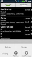 Screenshot of Yarn Inventory