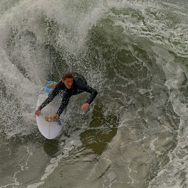 HB Surfer by Jose Matutina - Sports & Fitness Surfing ( surfer, california, sport, sea, ocean, huntington beach,  )