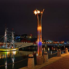 The Boston Tea Party Ship 01 by Jeff Stallard - Transportation Boats ( tea party, boston, ship, massachusetts, fort point channel )