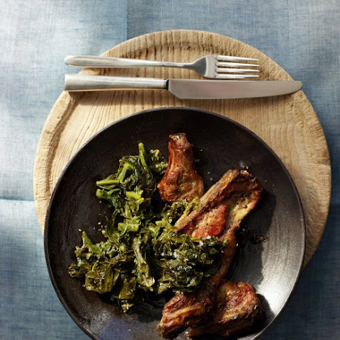Garlicky Pork Ribs with Greens