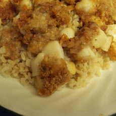 Baked Breaded Scallops