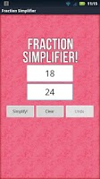 Screenshot of Fraction Simplifier!