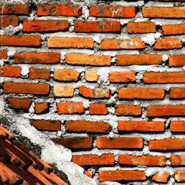 Brick by Aditya Hari Antara - Abstract Patterns ( abstract, detail, patterns, texture, brick )