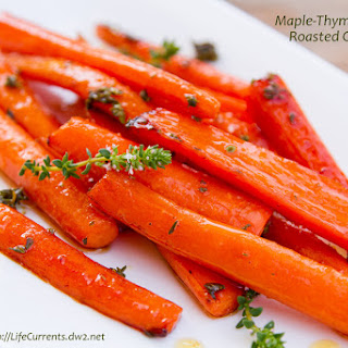 Maple-Thyme Roasted Carrots