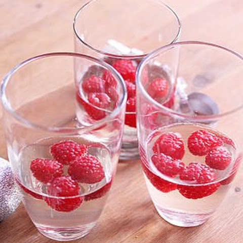 Raspberry Champagne Jello 'Drinks'