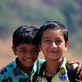 children having fun by Nirav Raval - Babies & Children Children Candids ( friends, two best friends, having fun, childrean )