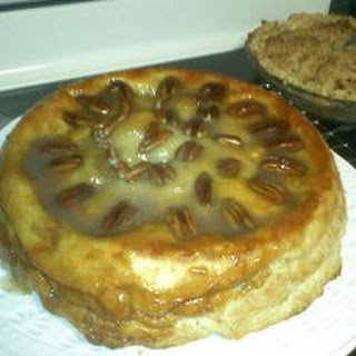 Upside Down Caramel Apple Pie