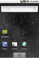 Screenshot of Live Wallpaper: Raining
