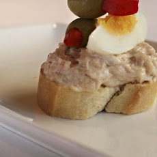 Tuna, Egg And Anchovy Pintxo