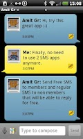 Screenshot of AirMeUp - Free SMS