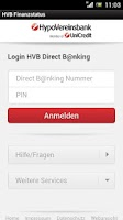 Screenshot of HVB Finanzstatus
