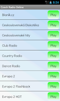 Screenshot of Czech Radio Online