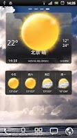 Screenshot of 墨迹天气插件皮肤高仿Sense 4.0天气