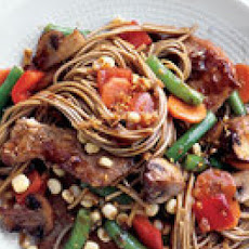 Asian Noodles with Vegetables and Pork