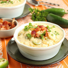 Spicy Corn Chowder with Bacon