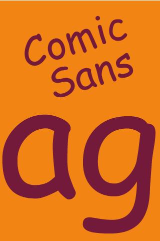 Comic Sans Pro FlipFont - screenshot