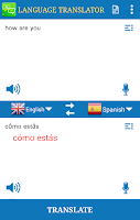 Screenshot of Language Translator