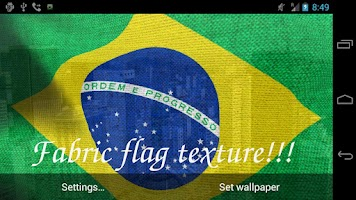 Screenshot of 3D Brazil Flag Live Wallpaper