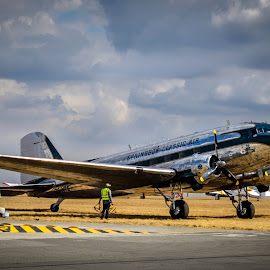 Preflight by Theo Wolmarans - Transportation Airplanes ( history, aviation, dakota, dc3 )