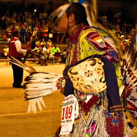 Native American Dancing Man by Terry Pfeffer - People Portraits of Men ( dancing, native, american, indian, man )