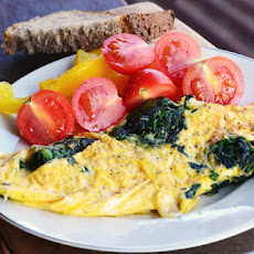Cheesy Spinach Omelet