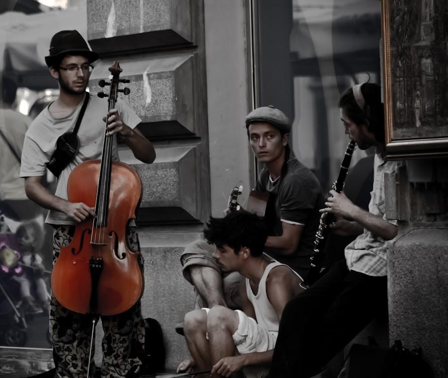 Knez Mihailova Street musicians, Belgrade, Serbia by Sasha Ivanovic - People Musicians & Entertainers ( serbia, beograd )