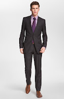 BOSS HUGO BOSS 'James/Sharp' Trim Fit Grey Virgin Wool Suit