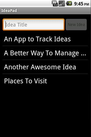 IdeaPad Pro: Idea Notepad
