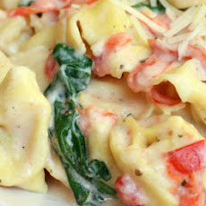 Creamy Tomato and Spinach Tortellini