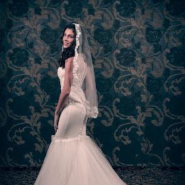 You may kiss the bride by Ciprian Obrad - Wedding Bride ( portait, fashion, attractive, woman, wedding, bride )