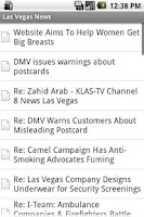 Screenshot of Las Vegas News
