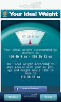 Screenshot of Your Ideal Weight