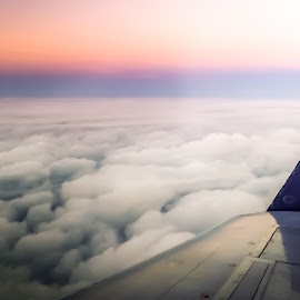 Above the clouds by Jack Brittain - Instagram & Mobile iPhone ( clouds, flying, sky, canada, plane, sunset, ontario, iphone5 )